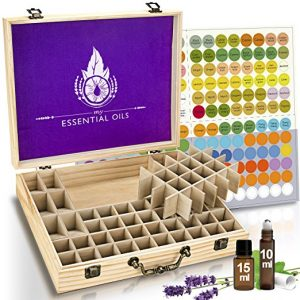 Natural Plant Based Wax Finish Essential Oil Box