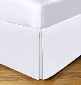 "Today's Home Microfiber Classic Tailored Styling 14"" Drop Full, White"