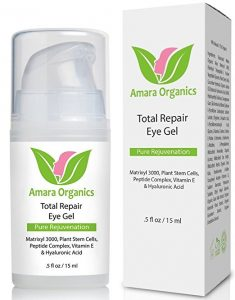 Organic Amara Eye Gel for Black Circles and Peptide and Puffiness