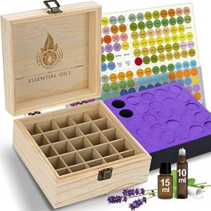 90 Degrees Open Lid Essential Oil Box, Wooden, 15ML