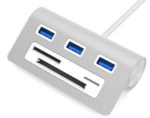 Sabrent Premium 3 Port Aluminum iMac USB Hub