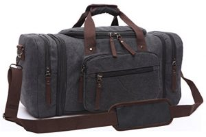 Aidonger Vintage Canvas Duffel Bag