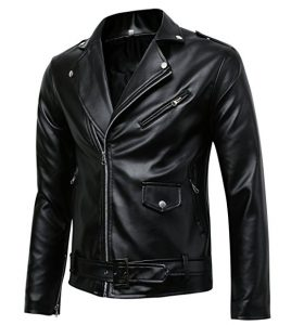 Benibos Men's Leather Faux Jacket (The Classic Police Styles)
