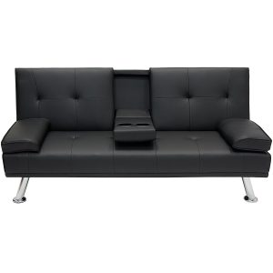 Best Choices Products Modern Entertainment Metal Futon