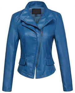 Chouyatou Women's Stylish Faux Leather Bike Jacket