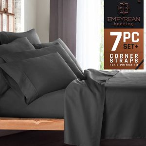 Empyrean Bedding Premium 7-Piece Bed Sheet and Pillow Case Set
