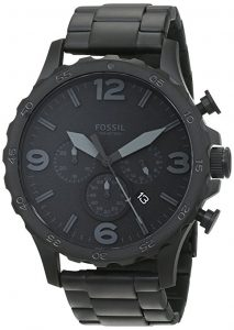 Fossil JR1401 Nate Brushed Steel Watch