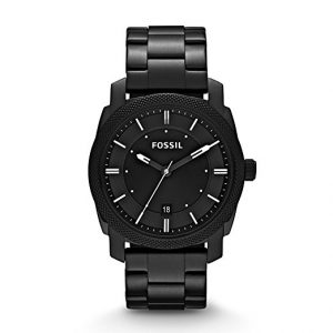 Fossil Men's Black IP Stainless Steel Watch