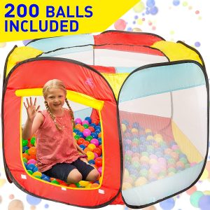 Kiddey Ball Pit Play Tent for Kids - 200 Balls Included