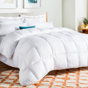 LINENSPA All-Season Down Alternative Quilted Comforter Cover Set
