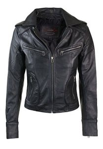 Infinity Ladies Women Real Leather Bike Leather Jacket