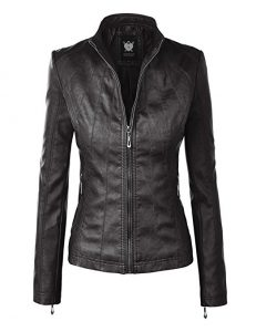 Lock and LoveWomen's Quilted Motorcycle Jacket