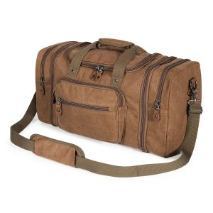 Plambag Unisex Canvas Duffel Travel Bag
