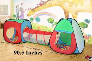 Roadacc 3-Piece Children Play Tent Set of Square Cubby