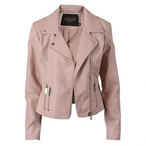 SECOND COLOR Bike Ladies Faux Leather Jacket