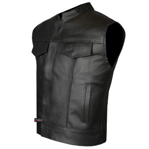 SOA Men's Vest Leather Jacket Motorcycle Anarchy Biker