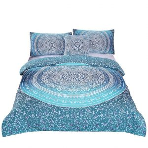 Sleep with Bohemian Luxury Quilt Bedspread Mandala Hippie Duvet Cover Set