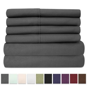 Sweet Home Collection 6-Piece Bed Sheet Set