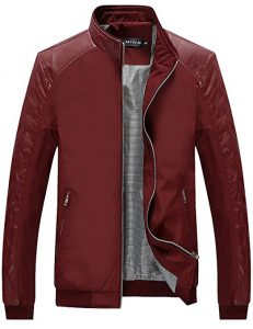 Tanming Men's Casual Slim Lightweight Jacket