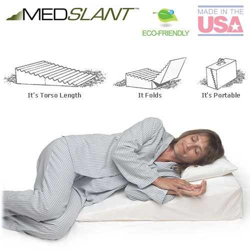 "The Medslant® Wedge Pillow for Acid Reflux (32""x24""x7"") Folding Pillow"