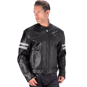 Viking Cycle Bloodaxe men's Leather Motorcycle Jacket