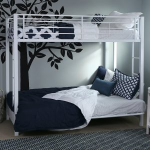 Walker Edison Twin-Over Metal Futon Bunk Bed