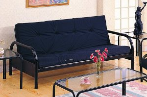Coaster Modern Furnishings Modern Metal Futon