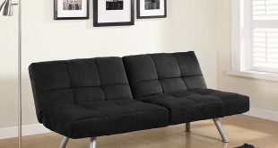 DHP Kaila Sofa Sleeper Convertible Metal Futon