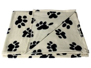 Bogo Brands Large Fleece Pet Blanket with Paw Print Pattern