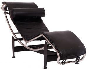MLF Modern Styles Chaise Lounge Chairs 100% Top Grain Italian Leather