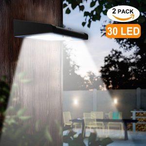 Avaspot 2 Pack 30 LED Solar Lights Outdoor