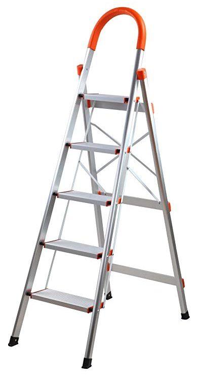 SHAREWIN Aluminum Step Ladder Folding Home Ladder