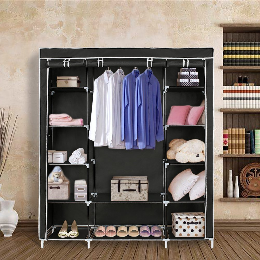 Blissun 59-Inch Portable Clothes Closet