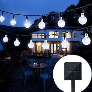Bolansi 30 LED Crystal Ball Waterproof Outdoor Solar Lights