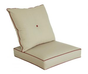 Bossima Outdoor Light Khaki Seat Cushion Set