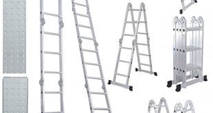 Comie Multi-Purpose Aluminum 330lbs Folding Ladder