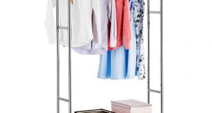 Double Rail Clothes Racks Garment Racks Height Adjustable
