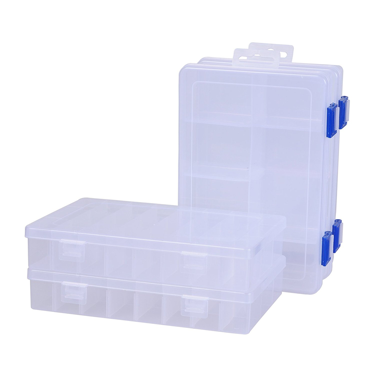 ECROCY Pack of 4 Plastic Tool Box Organizer