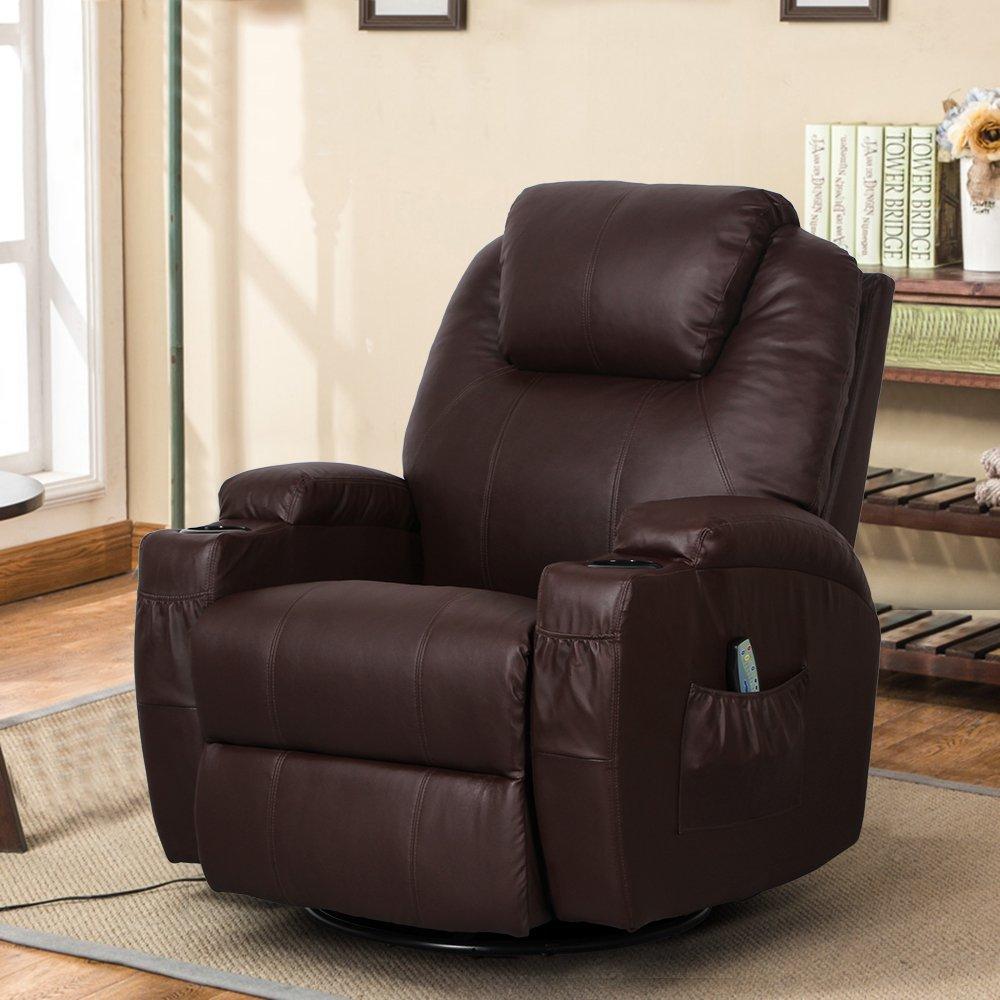 Esright Massage Recliner Chair, Espresso