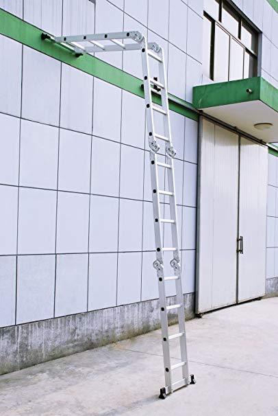Finether 15.4 Feet Heavy Duty Multi-Purpose Foldable Ladder