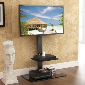 Fitueyes Swivel TV Stand with Mount, TT207001MB