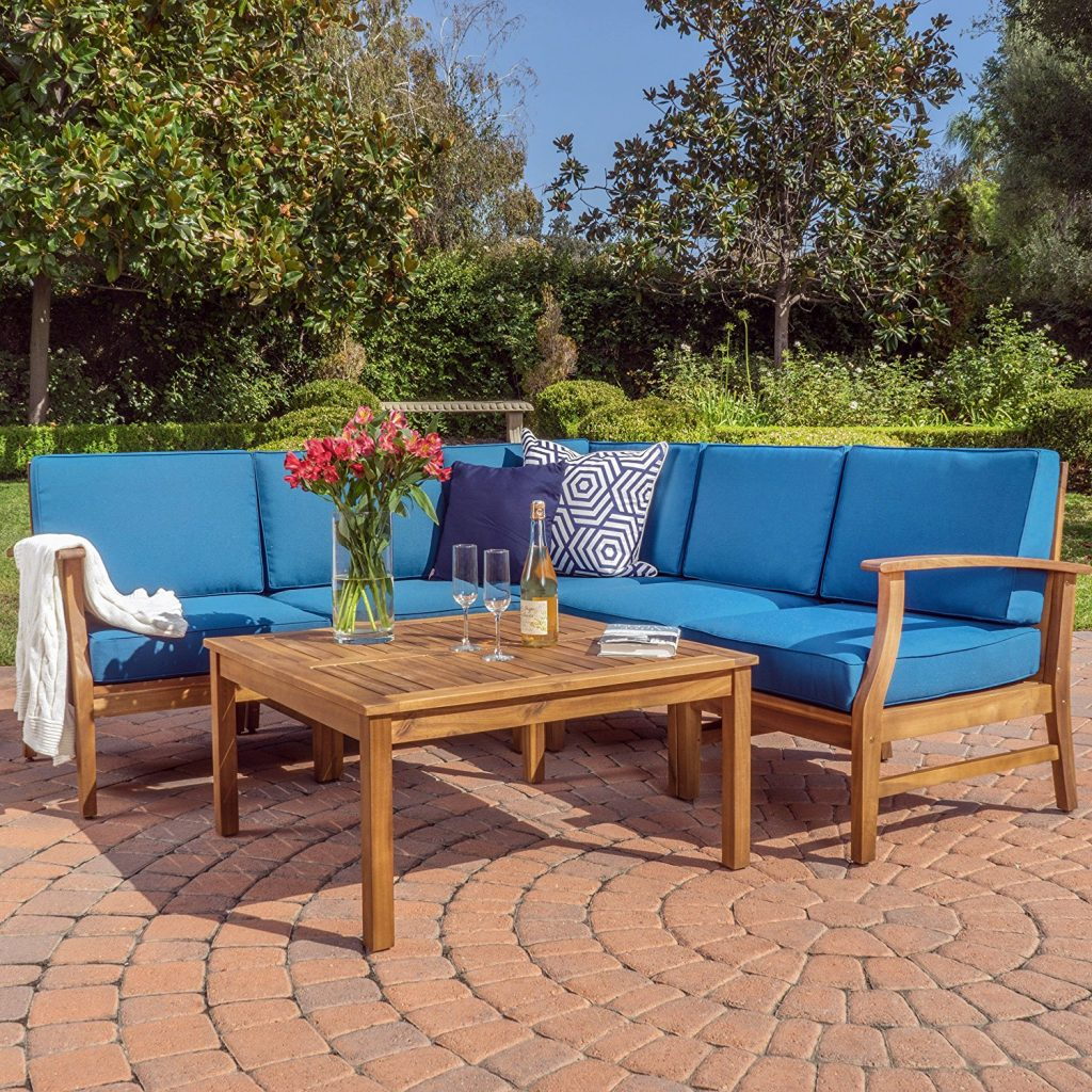 GDF Studio Capri Outdoor Patio Sofa Set Furniture