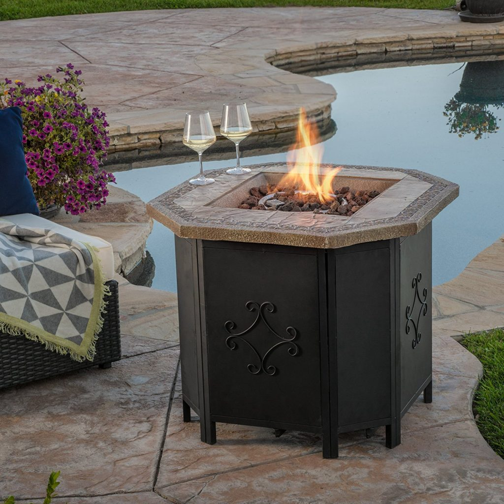 Great Deal Furniture Myrtle 30-Inch Liquid Propane Fire Table