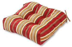 Greendale Home Fashions Outdoor Seat Cushions, Roma Stripe