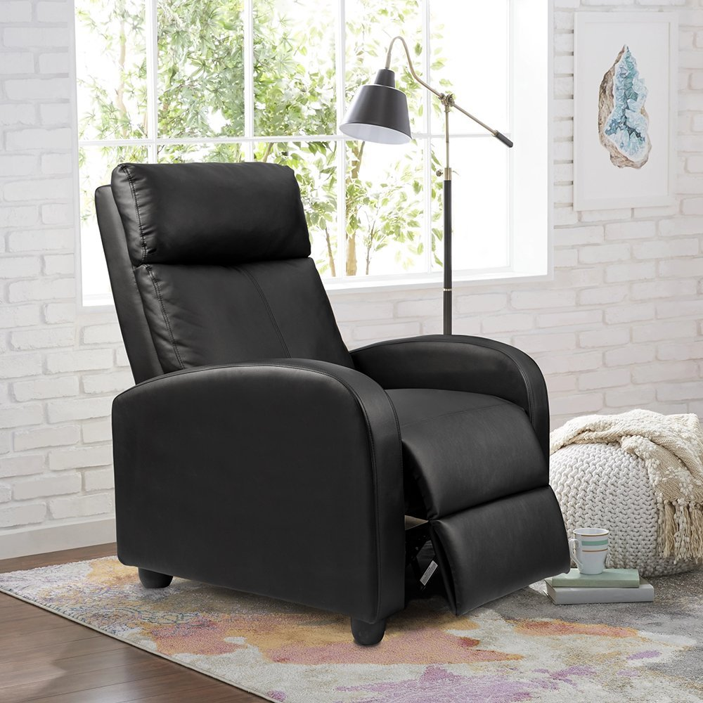 Homall Single Recliner PU Leather with Padded Seat Chair
