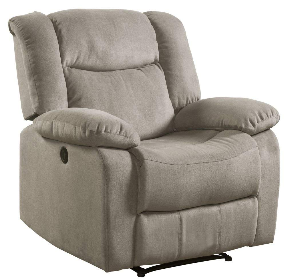 Lifestyle Power Fabric Recliner Chair, Taupe
