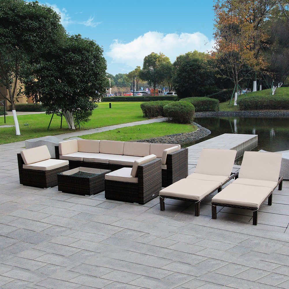 MAGIC UNION Outdoor Patio Sofa Set
