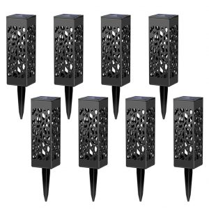 Maggift 8 Pc Outdoor Solar Powered LED Lights