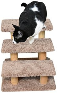 New Cat Condos Brown Wood Large Pet Stairs, 110223