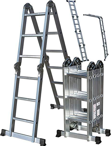OxGord Aluminum Folding Scaffold Work Ladder
